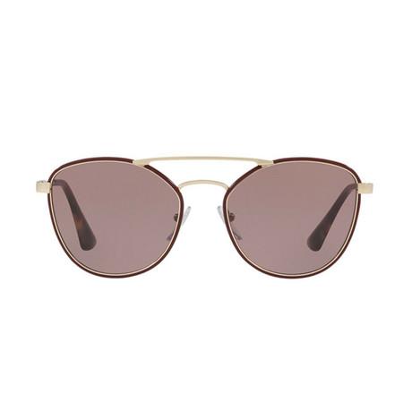 Prada // Unisex Circular Frame Sunglasses // Bordeaux