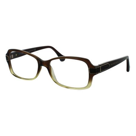 Women's Rectangle Glasses // Dark Brown