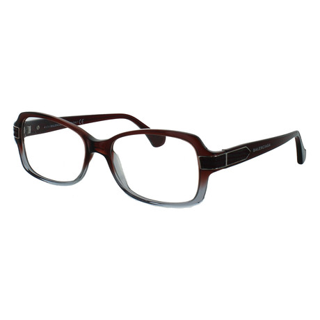 Women's Rectangle Glasses // Red