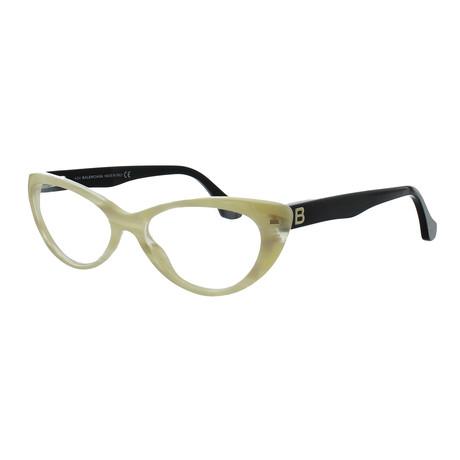 Women's Cat-Eye Glasses // Beige Horn