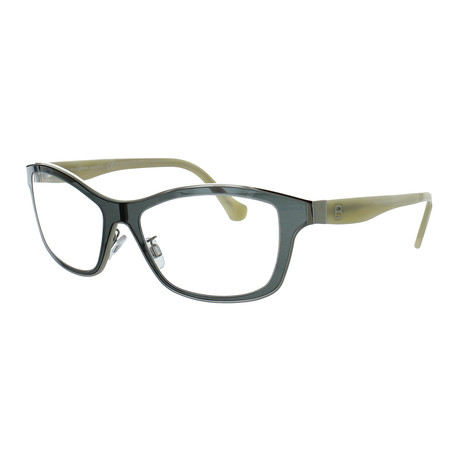 Women's Rectangle Glasses // Grey