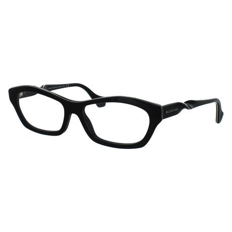 Women's Rectangle Glasses // Shiny Black
