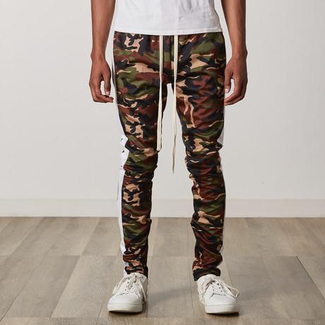 Camo Side Stripe Track Pants // White (S)