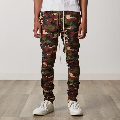 Camo Side Stripe Track Pants // Black (S)