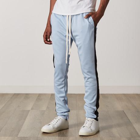 Slim Skinny Track Pants // Blue + Black (S)