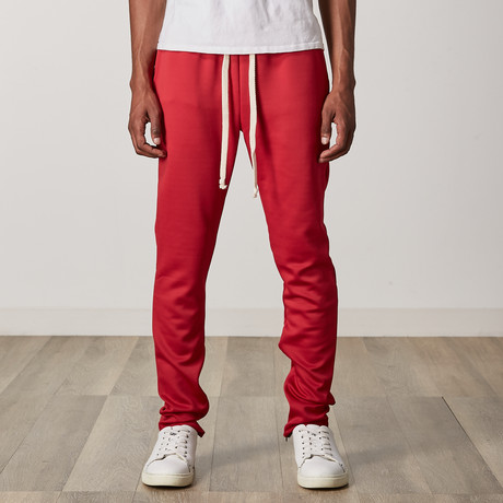 Twill Track Joggers // Red (S)