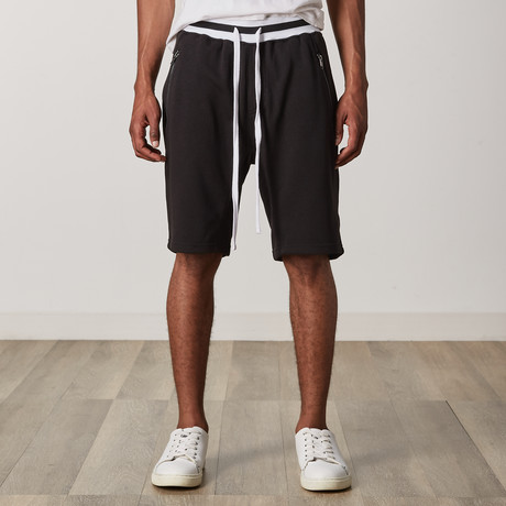French Terry Shorts // Black + White (S)