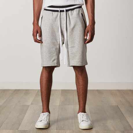 French Terry Shorts // Gray + Black + White (S)