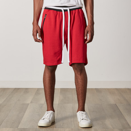 French Terry Shorts // Red + Black + White (S)