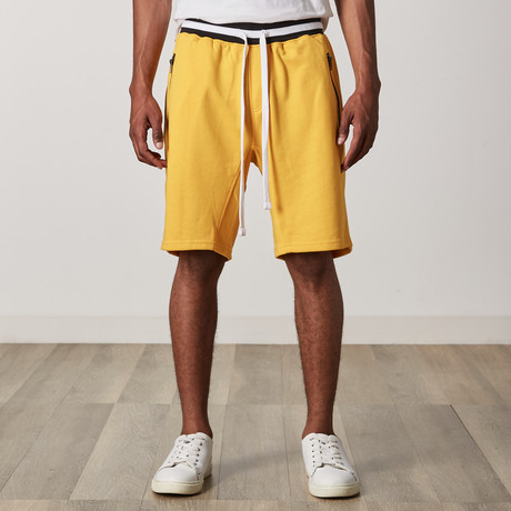 French Terry Shorts // Yellow + Black + White (S)