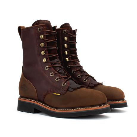 Lacer Work Boots // Crazy Horse Brown + Dark Brown (US: 5)