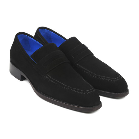 Suede Goodyear Welted Loafers// Black (Euro: 38)