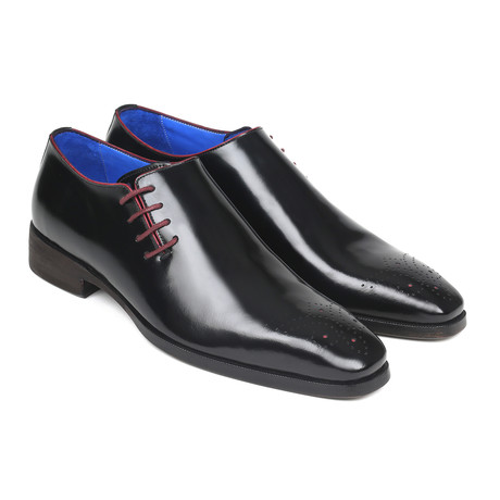 Side Lace Oxfords Polished Leather// Black (Euro: 38)