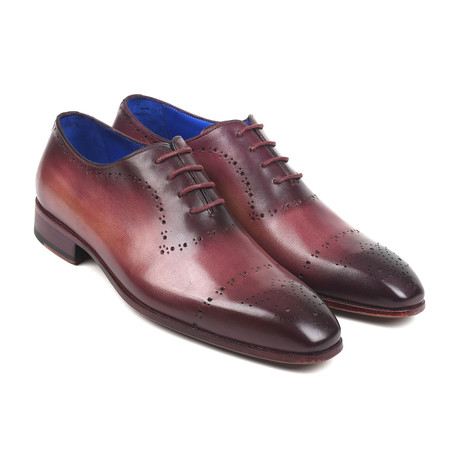 Hand-Painted Classic Brogues// Burgundy (Euro: 38)