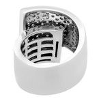 Estate 14k White Gold Pave Diamond Ring // Ring Size: 6