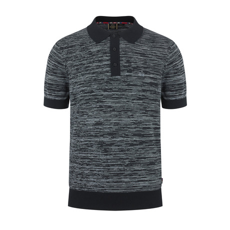 Acton Knit Polo // Black (XS)