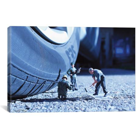 """Army Car Tire (26""""W x 18""""H x 0.75""""D)"""