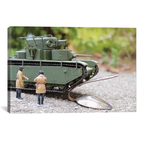 "Army Bending Spoons (26""W x 18""H x 0.75""D)"