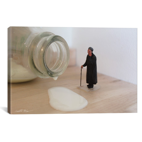 "Army Spilled Milk (26""W x 18""H x 0.75""D)"