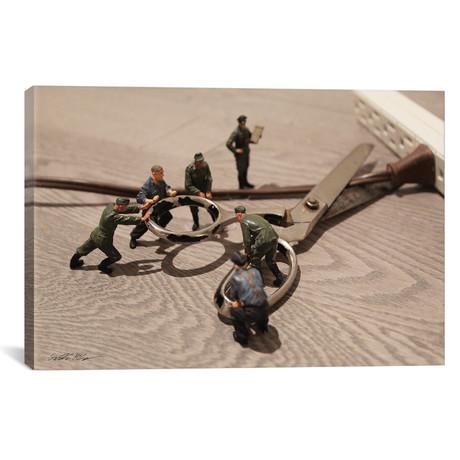 "Army Scissors (26""W x 18""H x 0.75""D)"