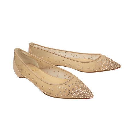 Women's Follies Strass Flats // Beige (Euro: 35)