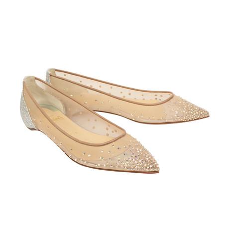 Women's Follies Strass Flats // Beige + Silver Heel (Euro: 36)