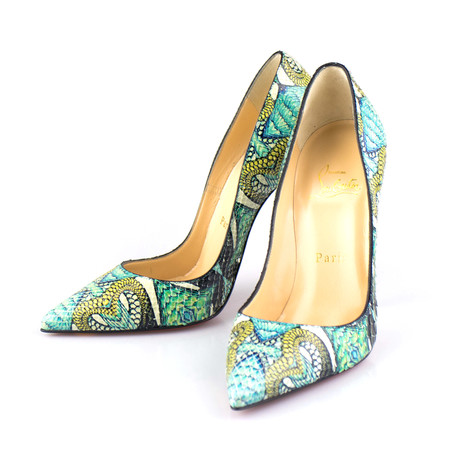 Women's So Kate Python Inferno 120mm Pumps // Multicolor (Euro: 36)
