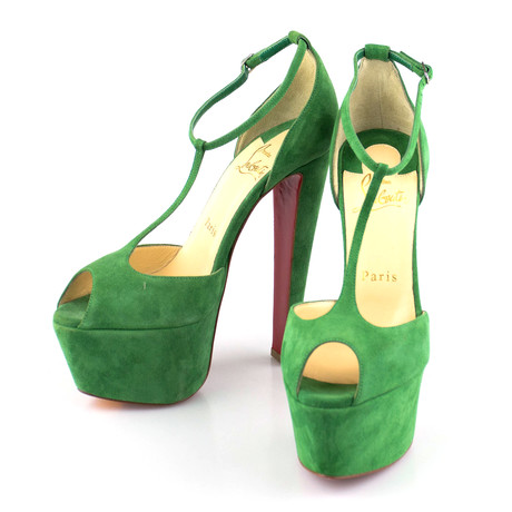 Women's Nenecheritza Suede 160mm Pumps // Green (Euro: 36)