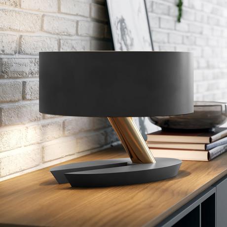 Albion Table Lamp // Graphite + Brass