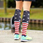 Patriotic Compression Socks // 3-Pairs (Small / Medium)