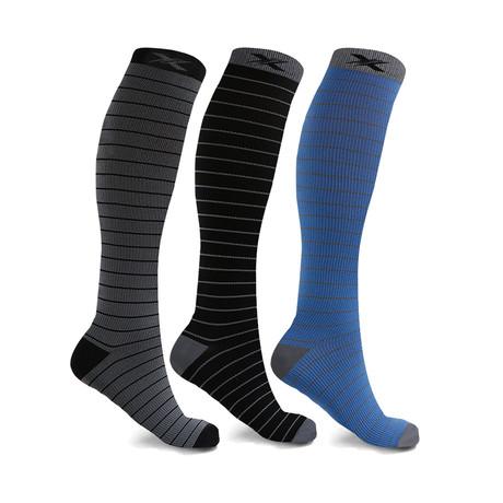 Fun Pattern Energizing Compression Socks // 3-Pairs (Medium)