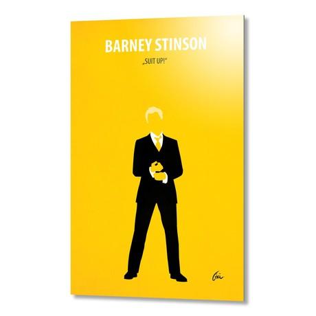 "Barney Stinson // Aluminum (16""W x 24""H x 0.2""D)"