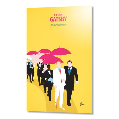 "The Great Gatsby 02 // Aluminum (16""W x 24""H x 0.2""D)"