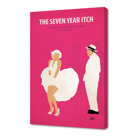 """The Seven Year Itch // Canvas (16""""W x 24""""H x 1""""D)"""