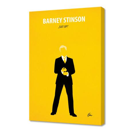 "Barney Stinson // Canvas (16""W x 24""H x 1""D)"