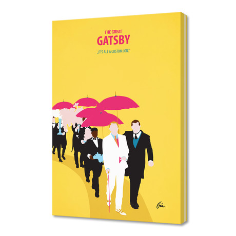 """The Great Gatsby 02 // Canvas (16""""W x 24""""H x 1""""D)"""