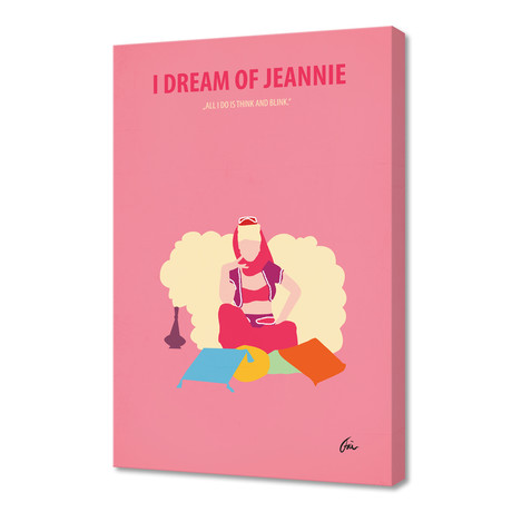 """I Dream of Jeannie // Canvas (16""""W x 24""""H x 1""""D)"""