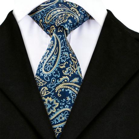 Charles Handmade Tie // Navy +Tan