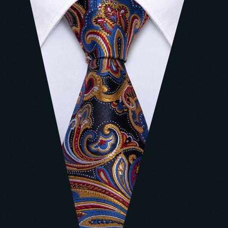 Mael Handmade Tie // Navy + Gold