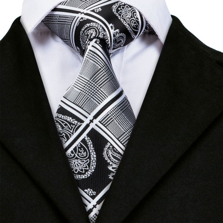 Elliot Handmade Tie // Black + White