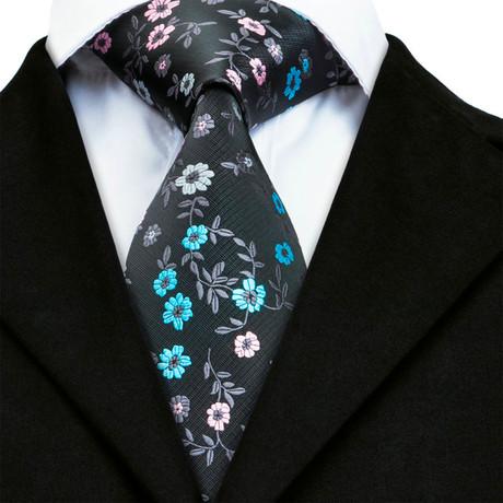 Baptiste Handmade Tie // Black Floral