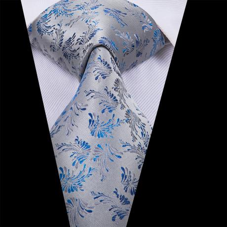 Amir Handmade Tie // Silver + Blue