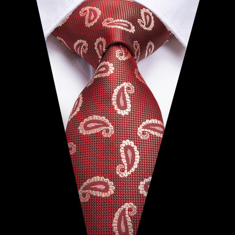 Ali Handmade Tie // Rust Paisley