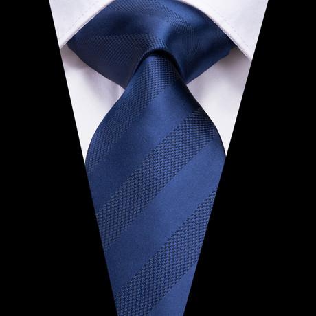 Viel Handmade Tie // Navy Stripe
