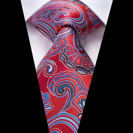Norris Handmade Tie // Red + Blue