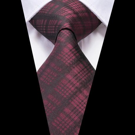 Mael Handmade Tie // Maroon Plaid