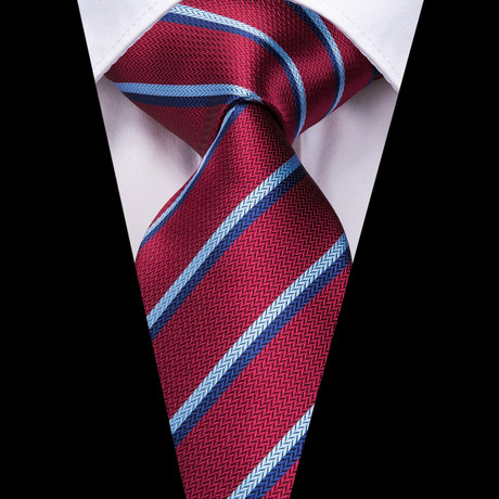 Sidney Handmade Tie // Red + Blue