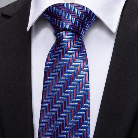 Drury Handmade Tie // Blue + Red