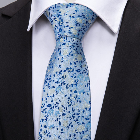Clovis Handmade Tie // Light Blue Floral