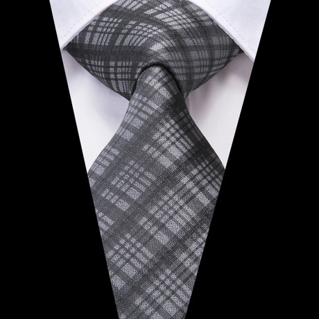 Juste Handmade Tie // Grey Plaid